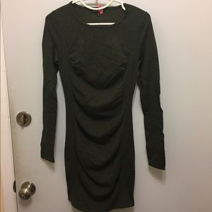 ❤️ express rouched sweater dress green ❤️